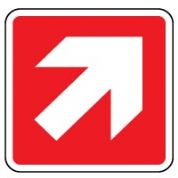Fire Safety Sign - Fire Arrow 45 Right 011
